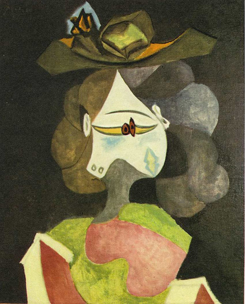 A Hat With Flowers 1940 By Pablo Picasso Art Reproduction from Wanford