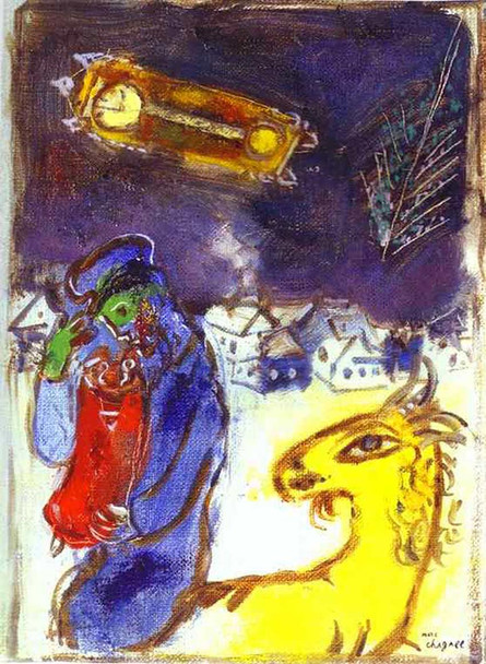 A Jew With Torah By Marc Chagall Art Reproduction from Wanford