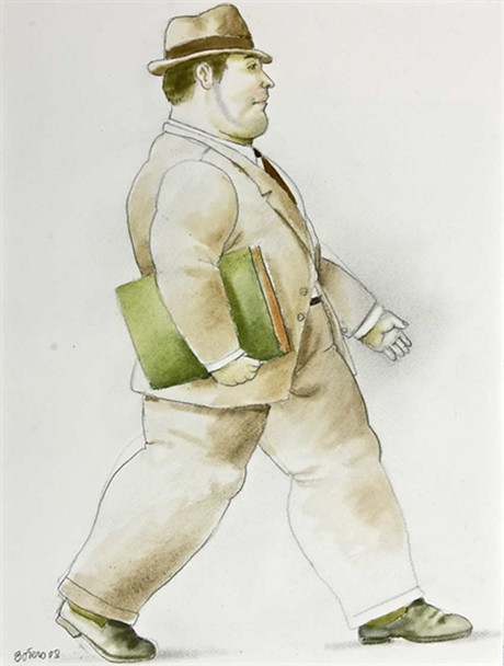 A Lawyer2 By Fernando Botero Art Reproduction from Wanford