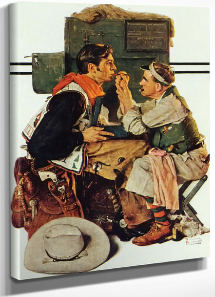 Gary Gooper As The Texan by Norman Rockwell