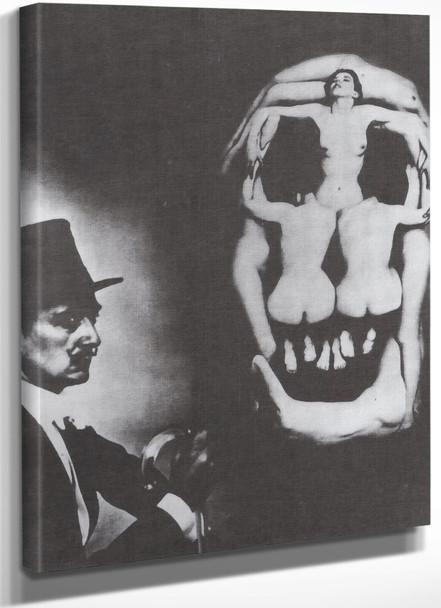 Human Skull Consisting Of Seven Naked Women by Salvador Dali