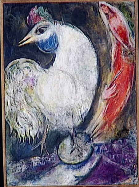 A Rooster 1947 By Marc Chagall Art Reproduction from Wanford