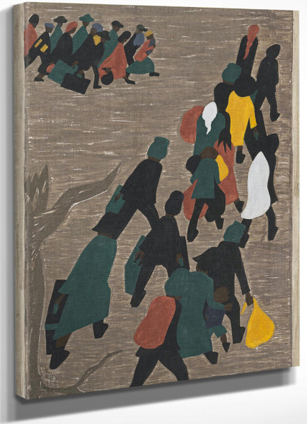 Migration Panel 18 The Migration Gained In Momentum by Jacob Lawrence