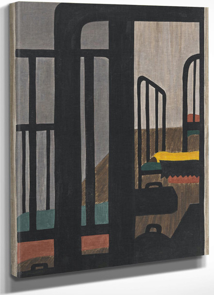 Migration Panel 48 Housing For The Negroes Was A Very Difficult Problem by Jacob Lawrence