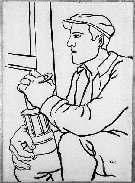 A Worker With The Lamp 1951 By Fernand Leger Art Reproduction from Wanford