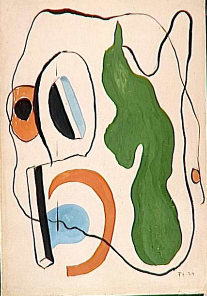 Abstract Composition 1924 By Fernand Leger Art Reproduction from Wanford