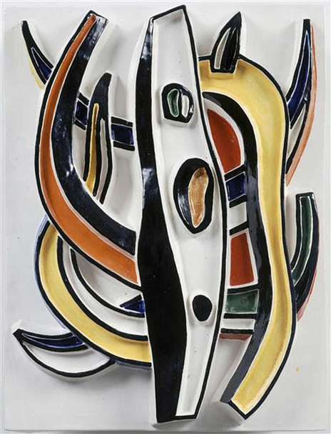 Abstract Composition By Fernand Leger Art Reproduction from Wanford