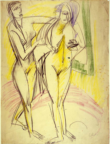After The Bath By Ernst Ludwig Kirchner Art Reproduction from Wanford