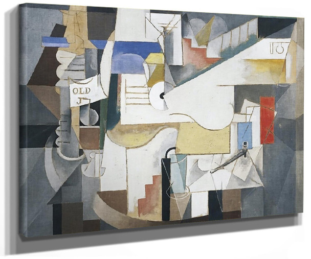 1913 Bottle Guitar And Pipe by Picasso