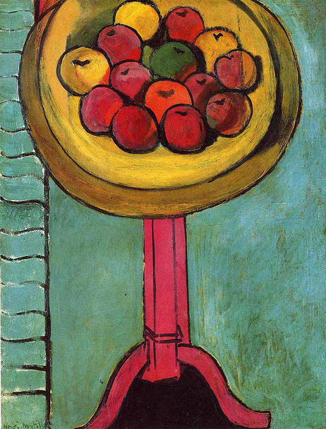 Apples On A Table Green Background 1916 By Henri Matisse Art Reproduction from Wanford