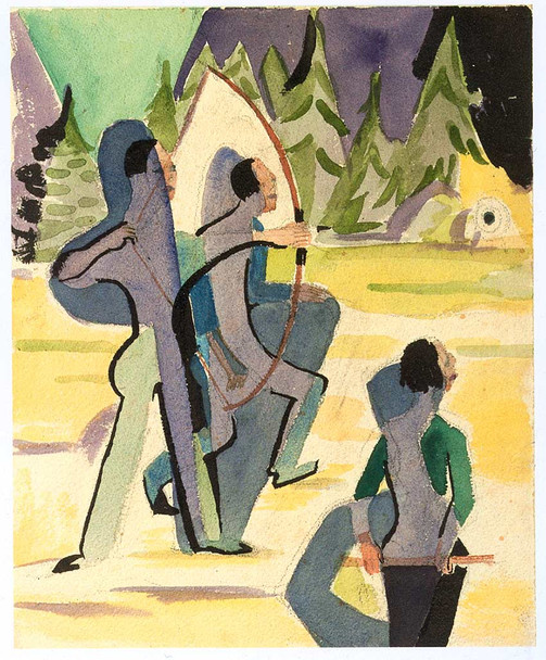 Archer By Ernst Ludwig Kirchner Art Reproduction from Wanford