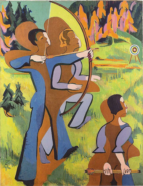 Archers 1937 By Ernst Ludwig Kirchner Art Reproduction from Wanford