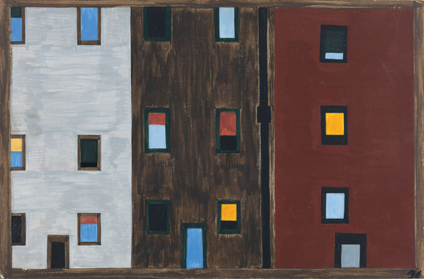 The Migration Series, Panel no. 31 by Jacob Lawrence