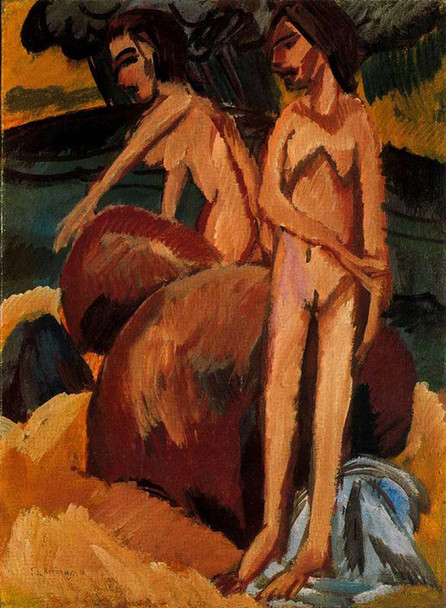 Bathers At Sea By Ernst Ludwig Kirchner Art Reproduction from Wanford