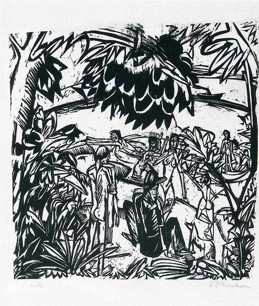 Bathers Under Trees By Ernst Ludwig Kirchner Art Reproduction from Wanford