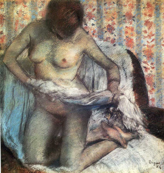 After The Bath 1884 By Edgar Degas Art Reproduction from Wanford.