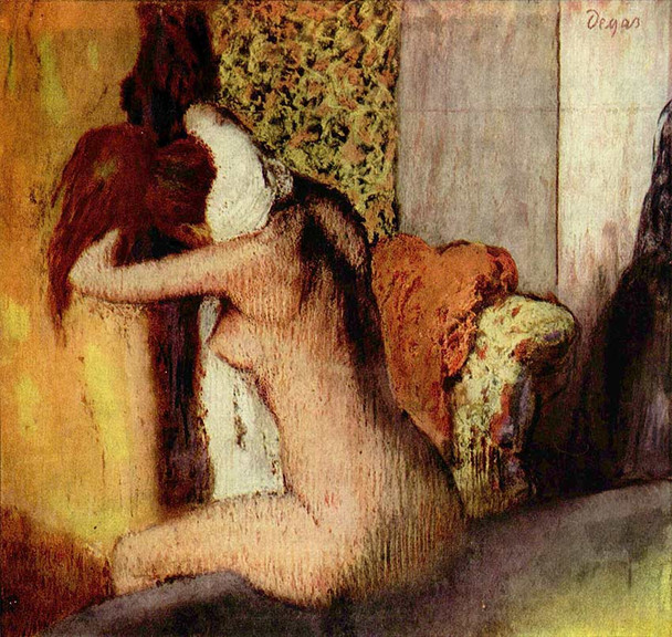 After The Bath Woman Drying Her Nape 1895 By Edgar Degas Art Reproduction from Wanford.