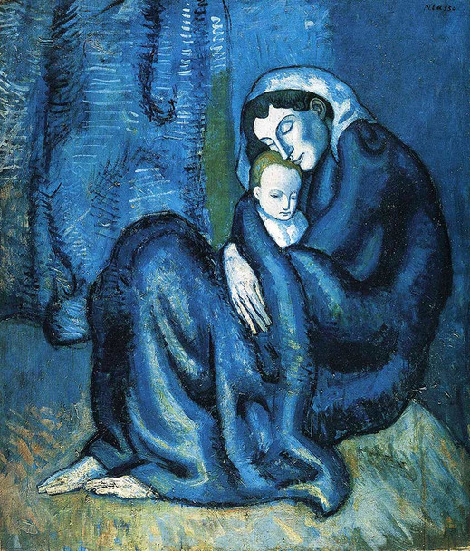 Mother And Child 1902 By Pablo Picasso Art Reproduction from Wanford