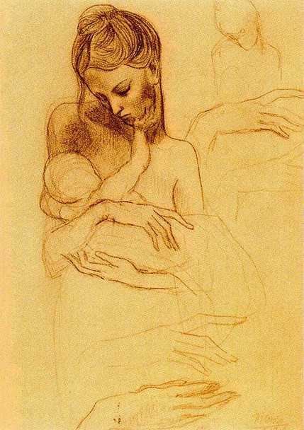 Mother And Child 1905 By Pablo Picasso Art Reproduction from Wanford