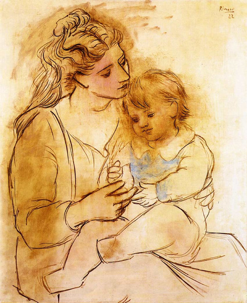 Mother And Child 1922 1 By Pablo Picasso Art Reproduction from Wanford