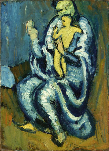 Motherhood 1901 By Pablo Picasso Art Reproduction from Wanford