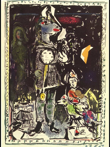 Peasant With A Clock 1968 By Marc Chagall Art Reproduction from Wanford