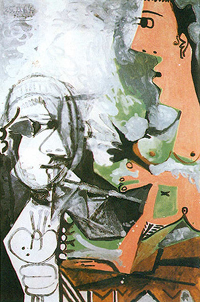 The Artist And His Model 6 By Pablo Picasso Art Reproduction from Wanford