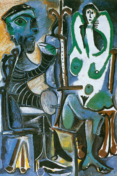 The Artist And His Model By Pablo Picasso Art Reproduction from Wanford
