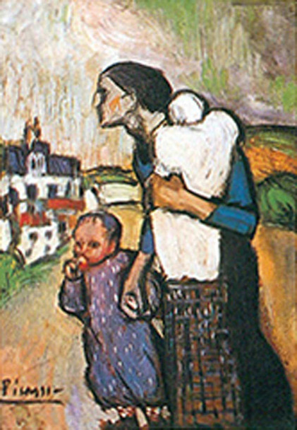 The Mother By Mother And Child By By Pablo Picasso Art Reproduction from Wanford