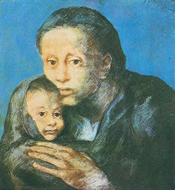 Mother And Child  by The Sick Child by Pablo Picasso Art Reproduction from Wanford.