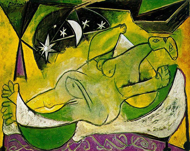 A Reclining Female Nude 1936 By Pablo Picasso