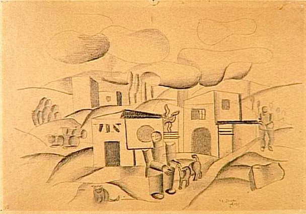 Animated Landscape 1921 By Fernand Leger