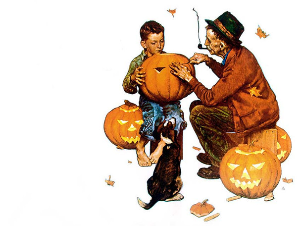 Ghostly Gourds By Norman Rockwell