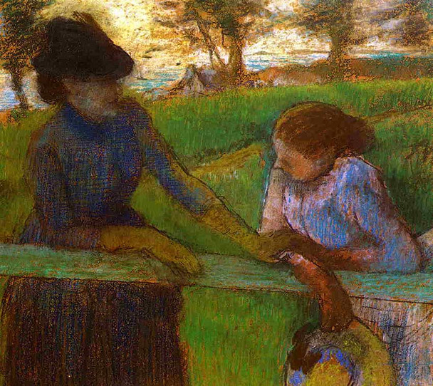 The Conversation By Edgar Degas Art Reproduction from Wanford.