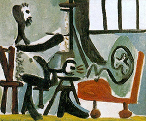 The Artist And His Model 2 By 1 By Pablo Picasso