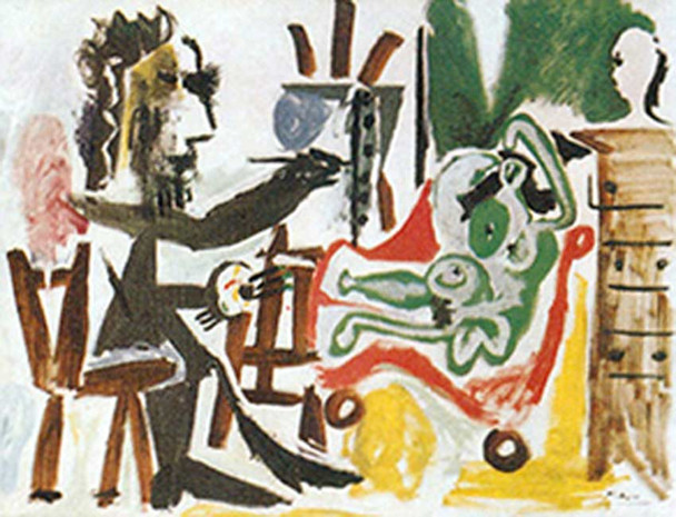 The Artist And His Model 9 By Pablo Picasso