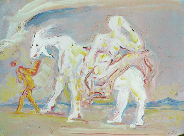 Woman On A Ram By Salvador Dali
