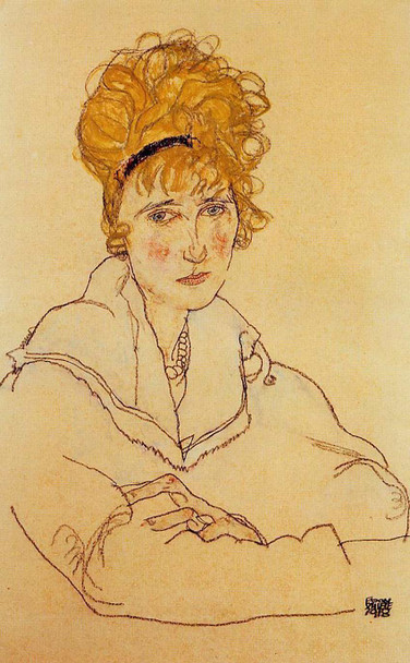 Portrait Of Edith Schiele 1918 By Egon Schiele Art Reproduction from Wanford
