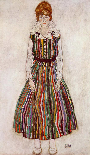 Portrait Of Edith Schiele The By S Wife 1915 By Egon Schiele Art Reproduction from Wanford
