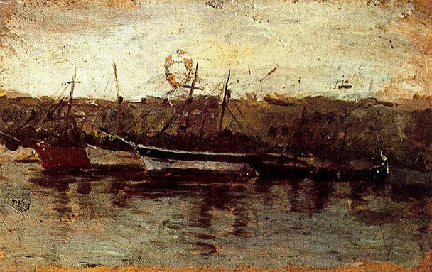 Alicante View Of Boats By Pablo Picasso