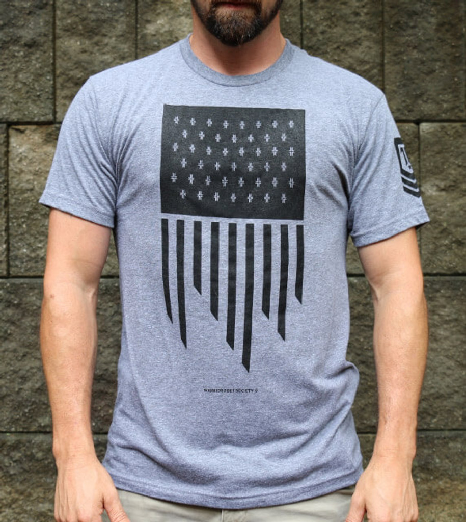 Flag T-Shirt - Grey / Black