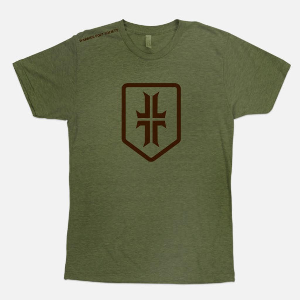 Shield T-Shirt - Olive Drab / Brown