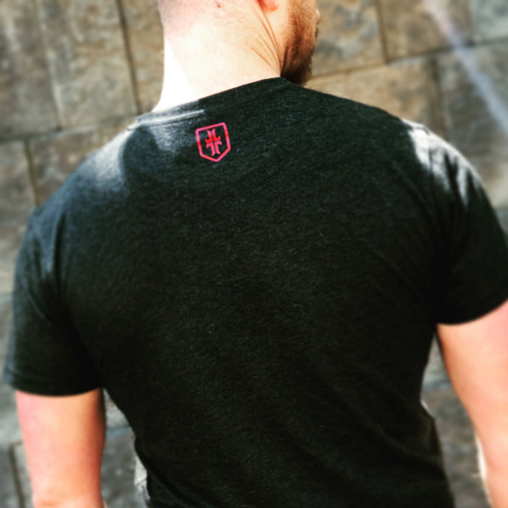 Society T-Shirt - Black / Red