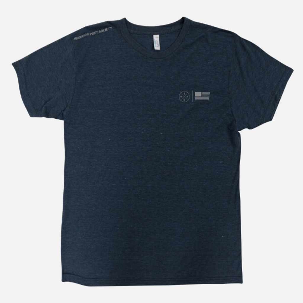 Flag & Badge T-Shirt - Navy / Grey