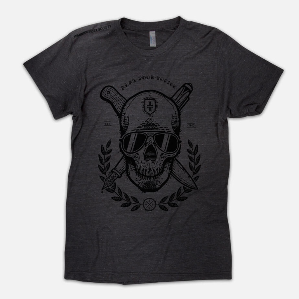 Skull T-Shirt - Dark Grey / Black