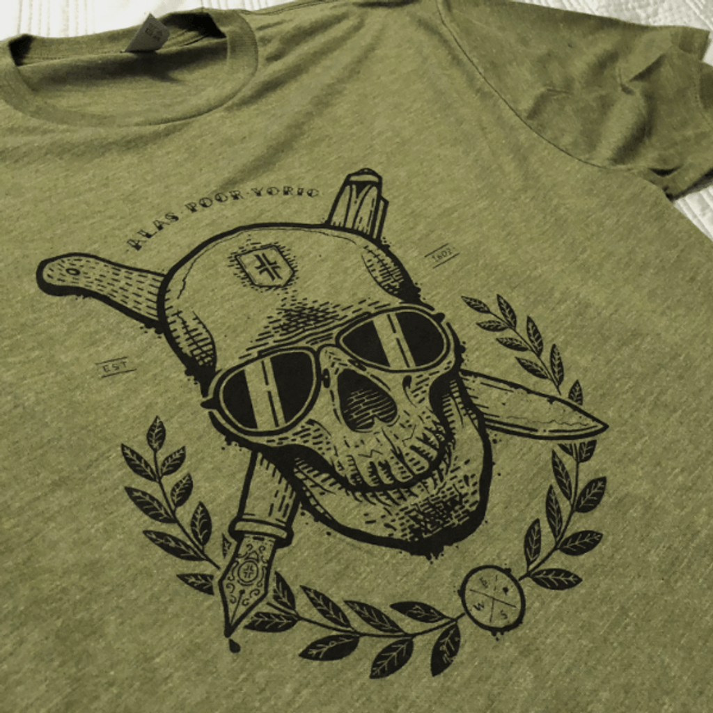 Skull T-Shirt - Green / Black
