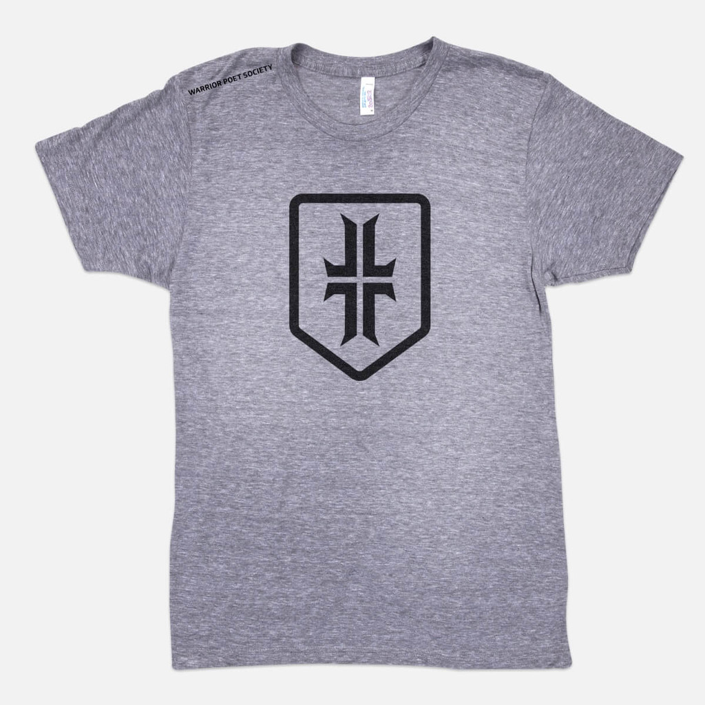 Shield T-Shirt - Heather Grey / Black