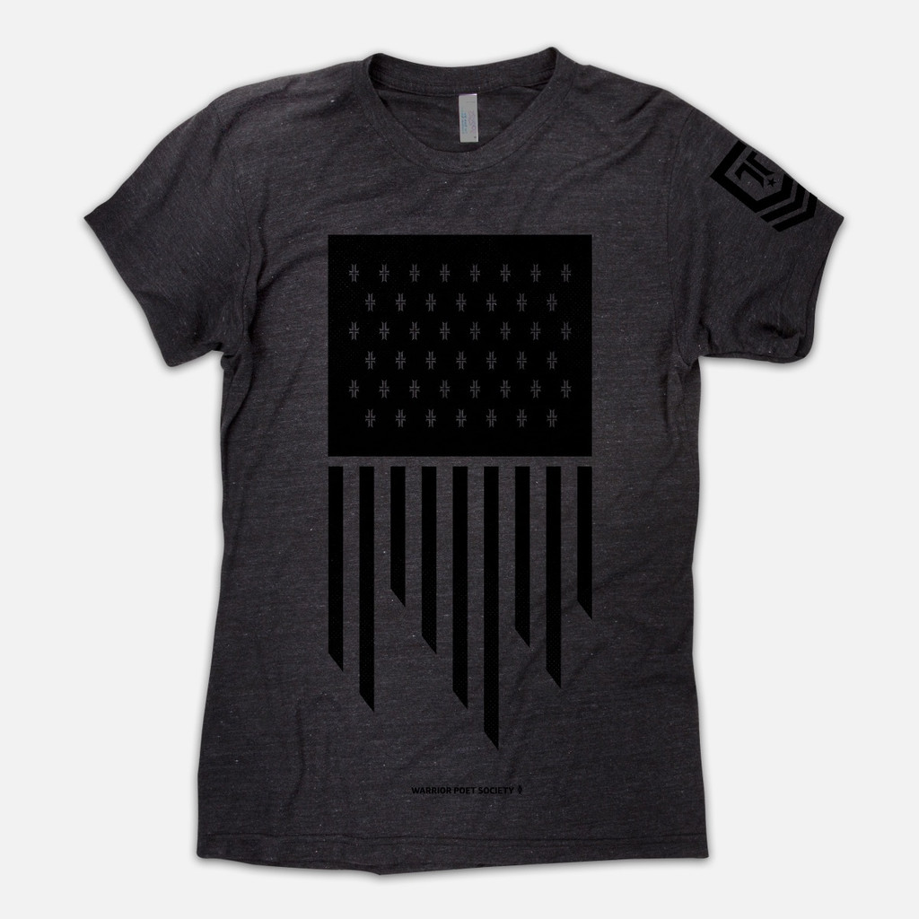 Flag T-Shirt - Dark Grey / Black