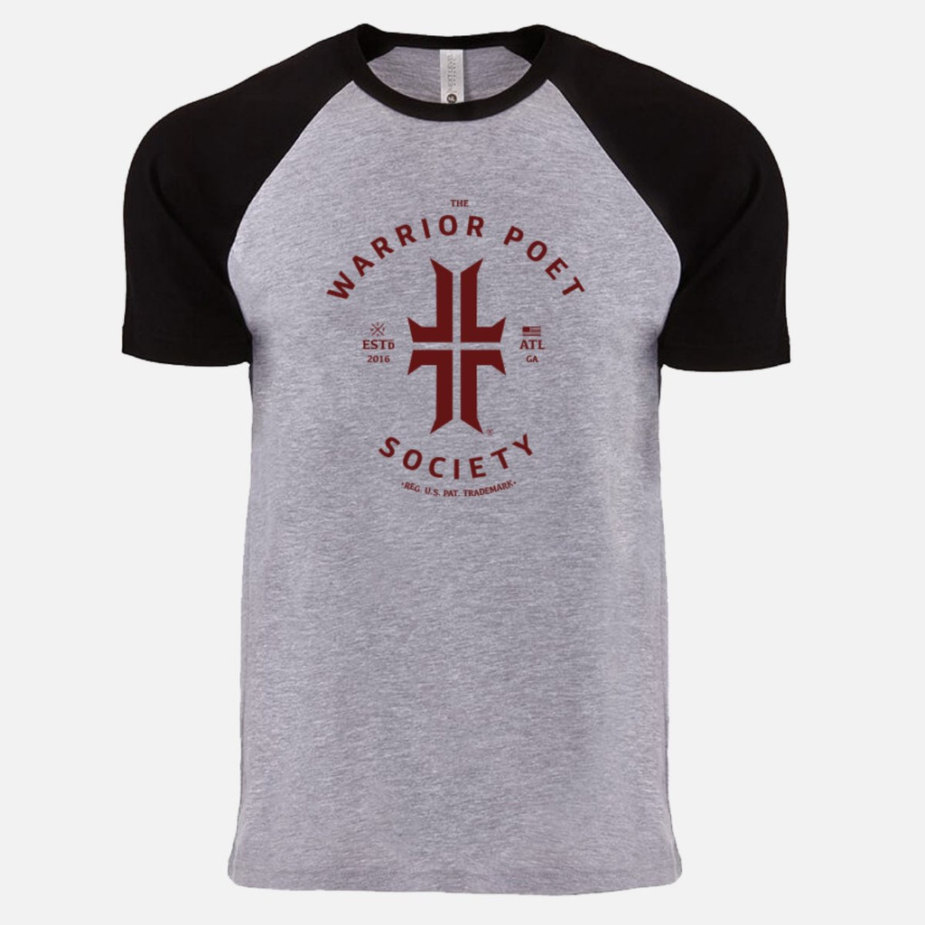 Trademark T-Shirt - Raglan Edition -  Black / Maroon