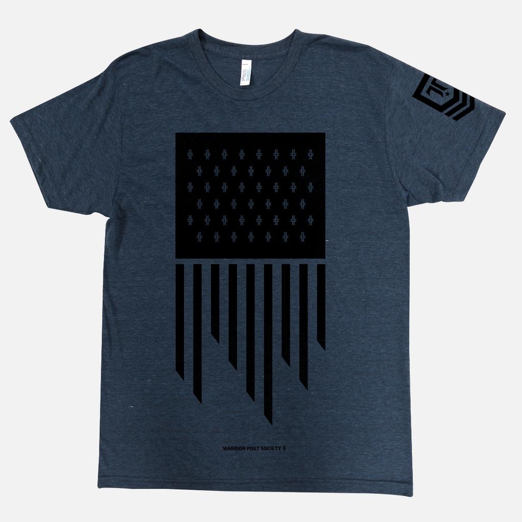 Flag T-Shirt in Navy / Black